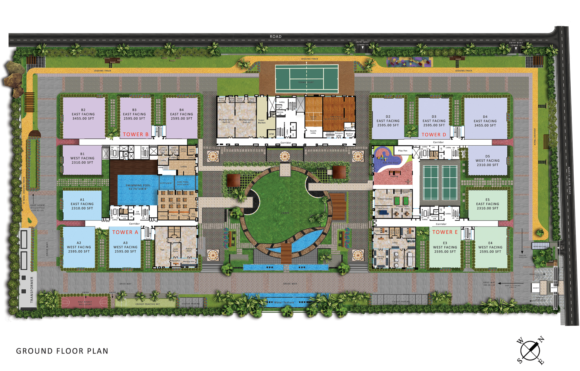 My home abhra luxury 3 bhk 4 bhk apartments in for Design my house