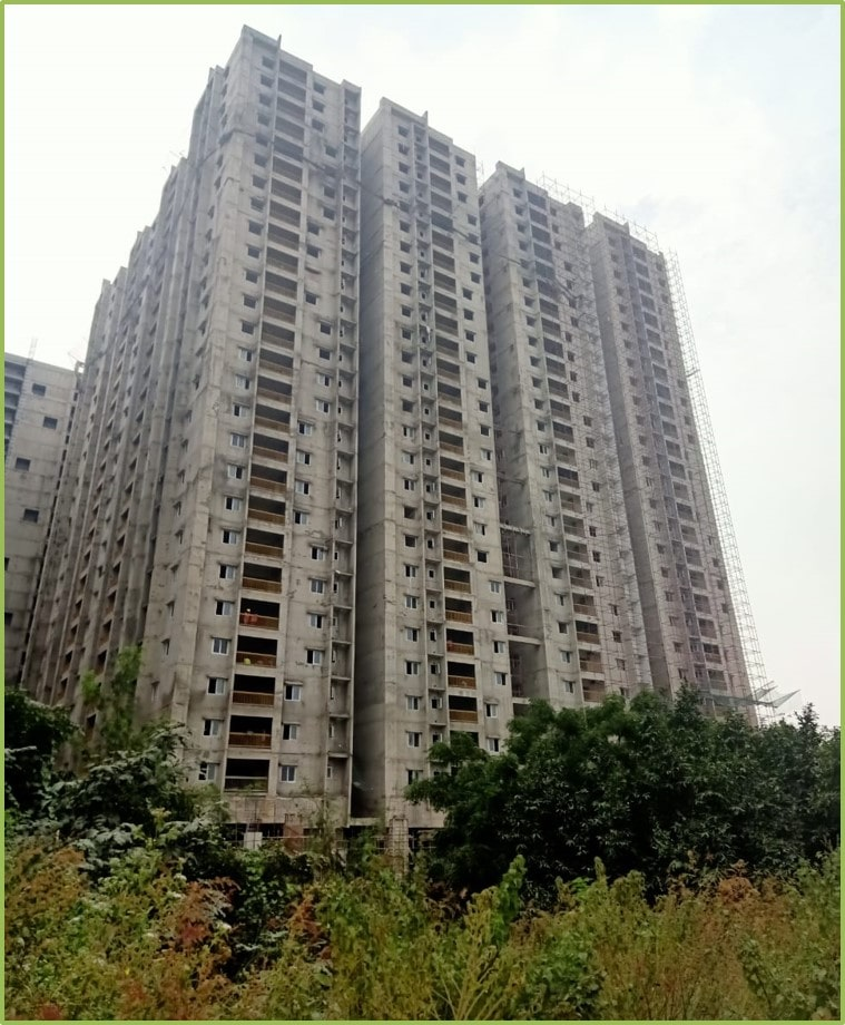 Block 3: Screeding and Putty Work Completed Till 26th Floor