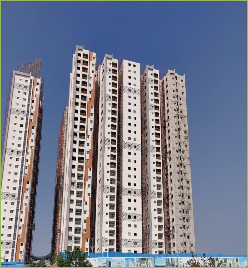 Block 4: Flooring, Doors and Windows Work Completed Till 10th Floor