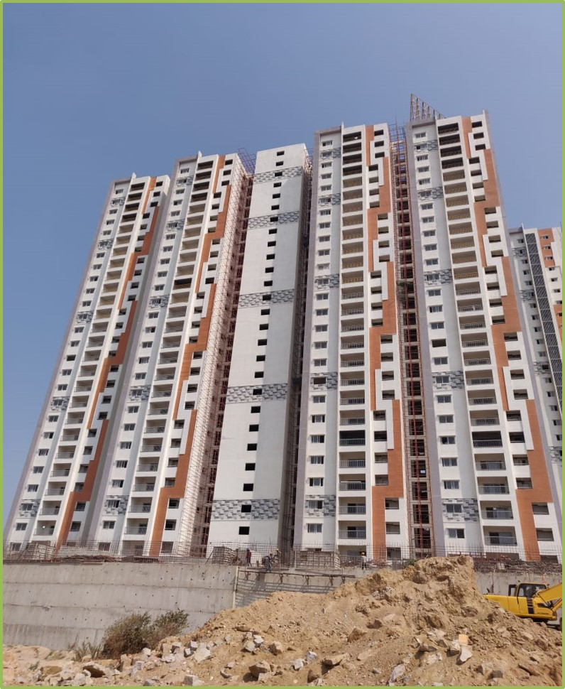Block 1: Flooring & Windows Work Completed Till 26th floor & Doors Work Completed Till  19th floor