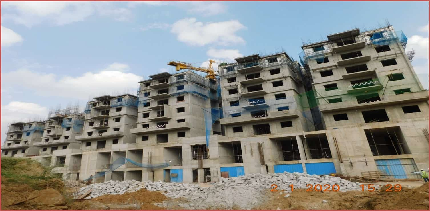 Block 1: 5th & 6th Roof Slabs Work in Progress