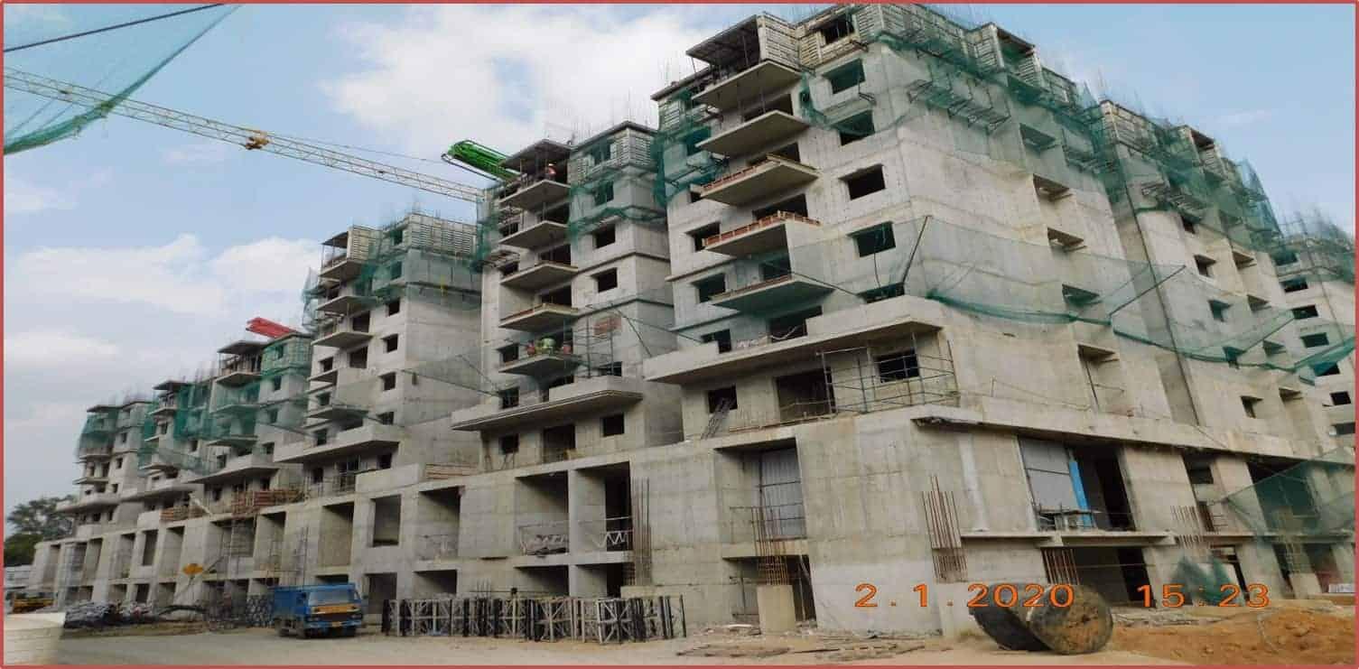 Block 3: 6th & 7th Floor Roof Slabs Work In Progress