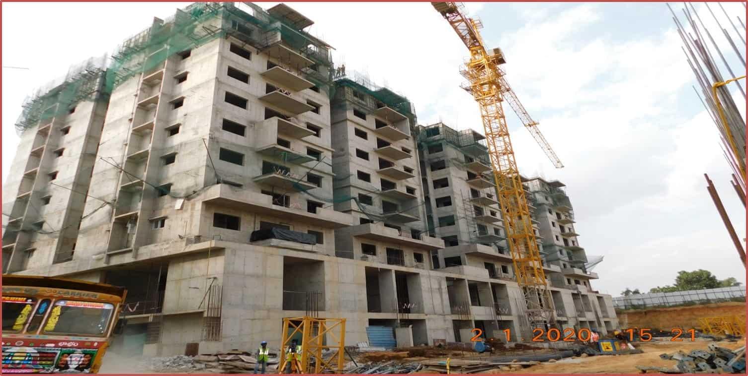 Block 5: 7th & 8th Floor Roof  Slabs Work In Progress