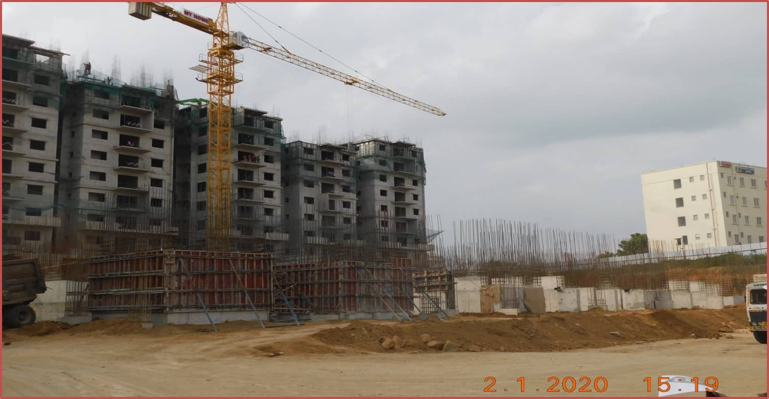 Block 7: Basement-II Columns Works In Progress