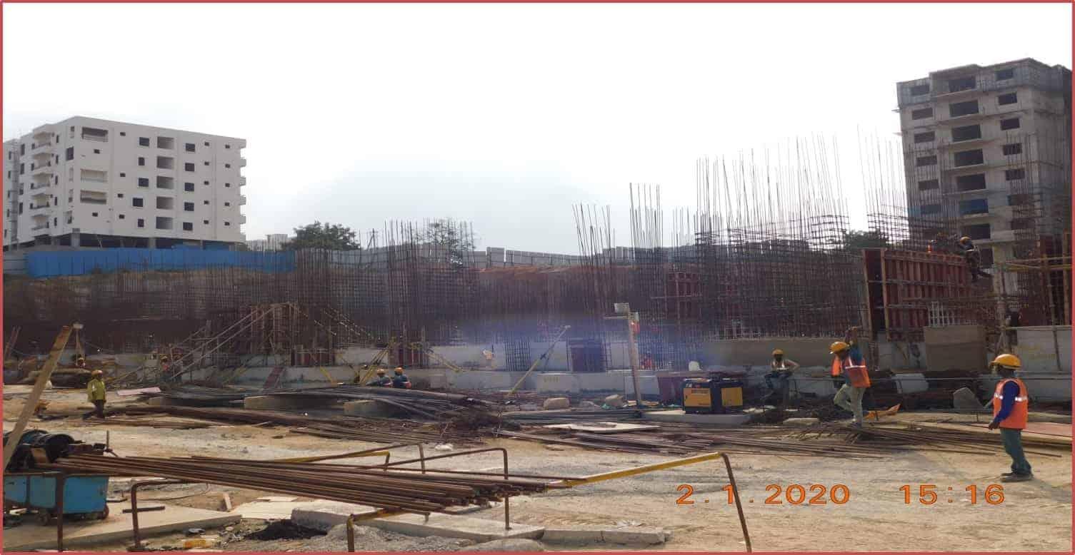 Block 8: Basement-II Columns Works In Progress