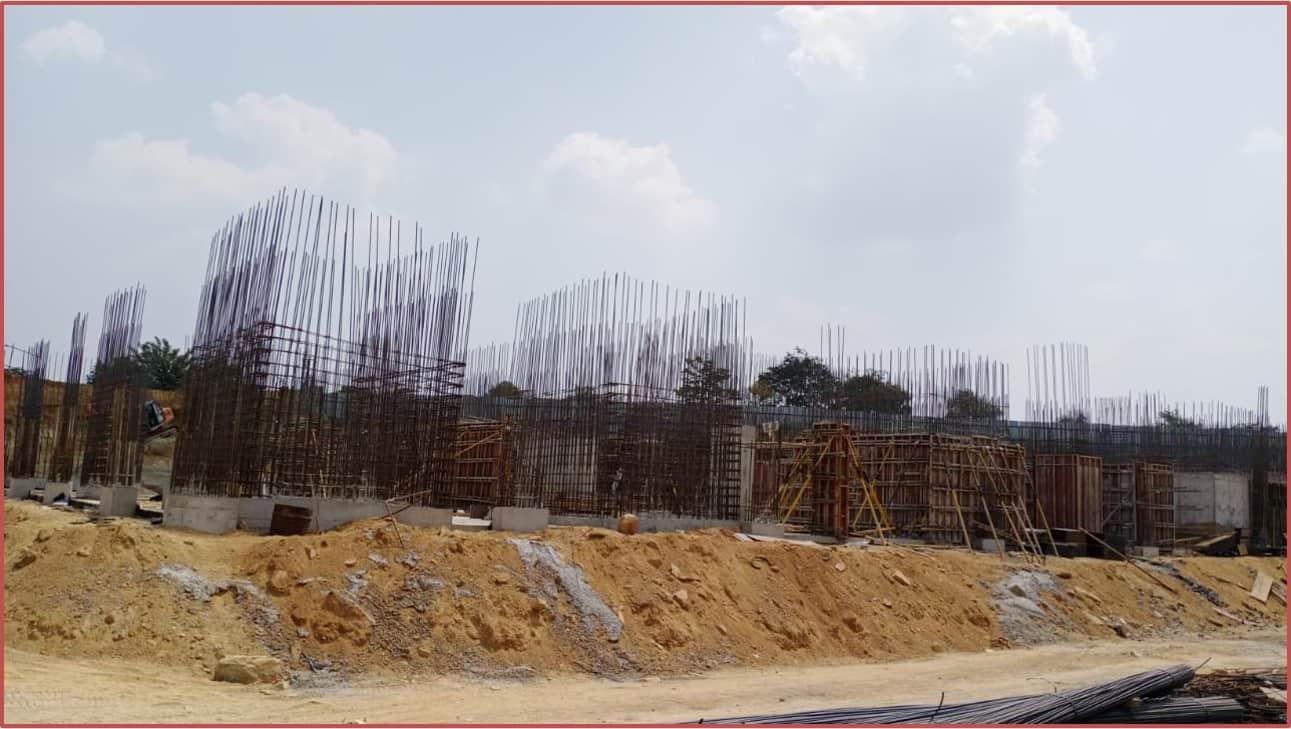 Block 10: Basement-II Roof Slab Work In Progress