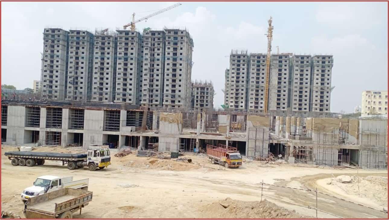 Block 11: Basement-I Roof Slab Work In Progress
